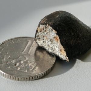 nalezený meteorit; foto: Pavel Spurný, AsÚ AV ČR