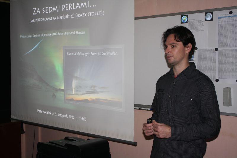 Petr Horálek, Sedm perel astronomie, Třebíč, 5. 11. 2015